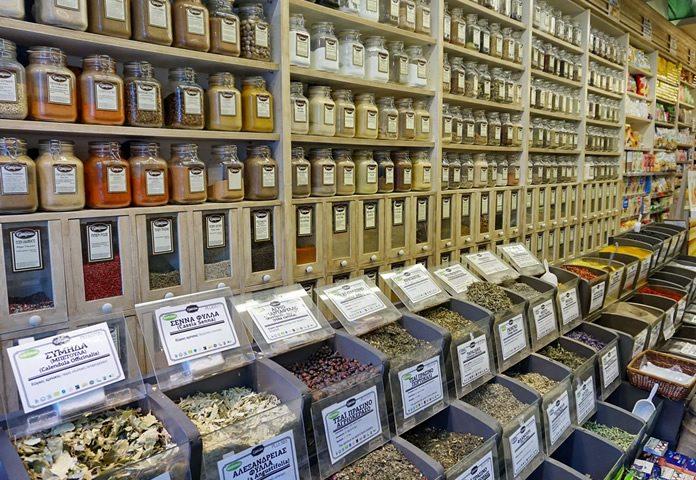 Bezoek winkels met specerijen